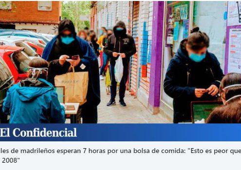 """""""LAS COLAS DEL HAMBRE"""", EN MADRID."""